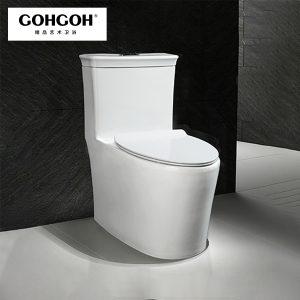 GOHGOH 一体式陶瓷节水马桶 防臭静音超漩式坐便 2857