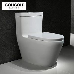 GOHGOH 一体式陶瓷节水马桶 防臭静音超漩式坐便 2858