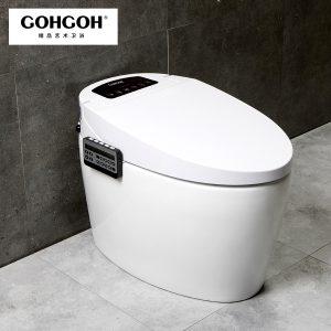 GOHGOH 家用卫生间智能陶瓷坐便器 即热式感应马桶 一体式座便节水防臭马桶ZC77