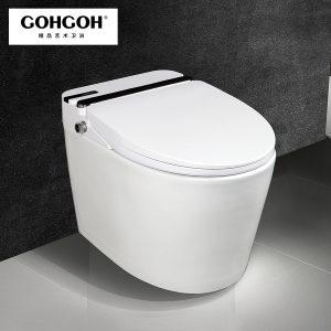 GOHGOH 家用卫生间智能陶瓷坐便器 即热式感应马桶 一体式座便节水防臭马桶ZC91