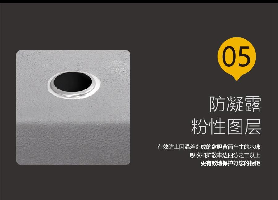 GOHGOH水槽 厨房单槽水槽 304不锈钢精拉丝水槽MT8048