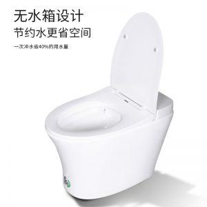 GOHGOH 家用卫生间陶瓷坐便器 即热式脉冲马桶 一体式座便节水防臭马桶2001