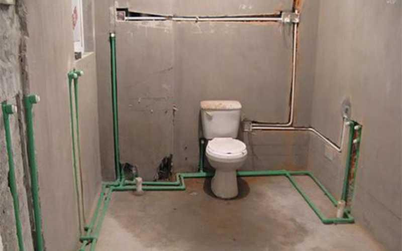 卫生间管道装修,GOHGOH卫浴